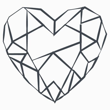 Grunge Diamond icon isolated on white background. Jewelry symbol. Gem stone