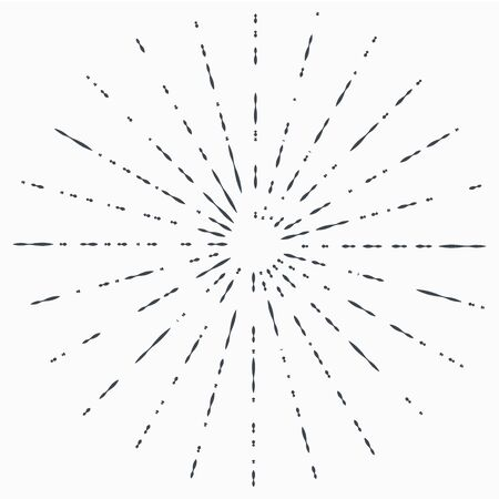 Sun burst, star burst sunshine. Radiating from the center of thin beams, lines. Design element for logo, signs