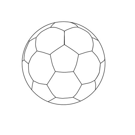 Football ball Icon in trendy flat style isolated on grey background. Soccer ball pictogram. web site design, app, UI. Иллюстрация