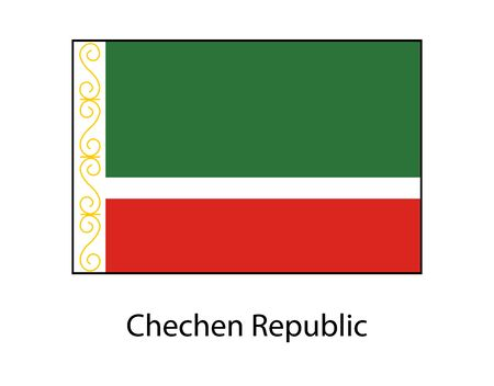 Flag of Chechen Republic in official colors 일러스트