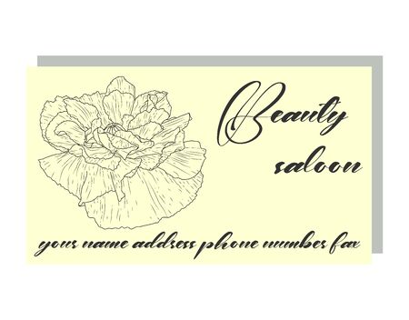 business card with poppies, stylish design. Business Luxury card. Modern Abstract design with poppy flowers decor.