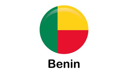 Benin flag, official colors and proportion correctly. National Benin flag.