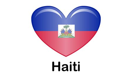 Flag of Republic of Haiti and formerly called Hayti is a country located on the island of Hispaniola, east of Cuba in the Greater Antilles archipelago of the Caribbean Sea. Illusztráció
