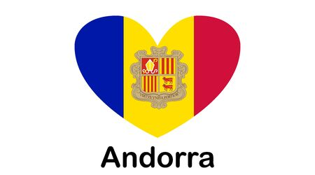 Flag of Andorra, Principality of Andorra. Template for award design, an official document with the flag of Andorra.