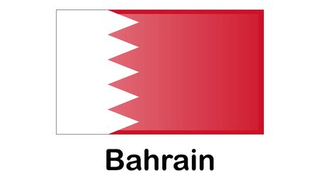 original and simple Bahrain flag isolated in official colors and Proportion Correctly Illusztráció