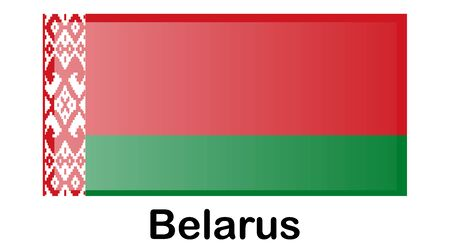 Flag of Belarus. Original and simple Belarus flag isolated in official colors and Proportion Correctly.