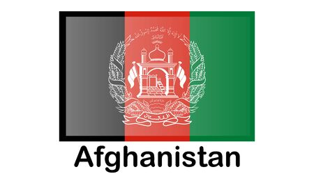 Flag of Afghanistan. Accurate dimensions, elements proportions and colors.