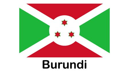 original and simple Burundi flag isolated in official colors and Proportion Correctly Illusztráció