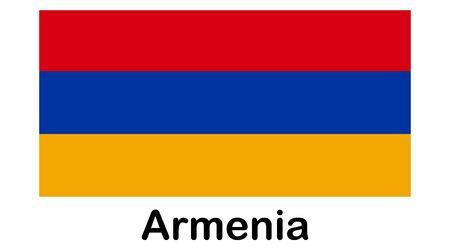 national flag of Armenia in the original colours and proportions Illusztráció