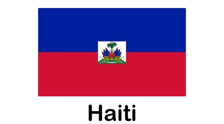 Flag of Republic of Haiti and formerly called Hayti is a country located on the island of Hispaniola, east of Cuba in the Greater Antilles archipelago of the Caribbean Sea.  イラスト・ベクター素材