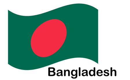 Bangladesh flag, official colors and proportion correctly. National Bangladesh flag.