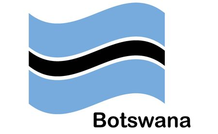 national flag of Botswana in the original colours and proportions Vectores
