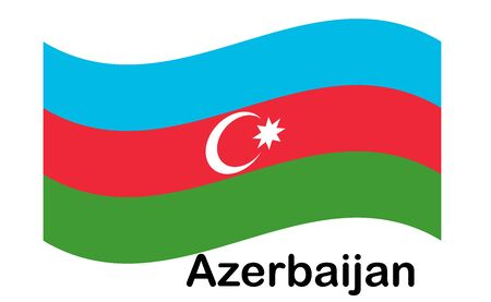 Flag of Azerbaijan. The color and size of the original.