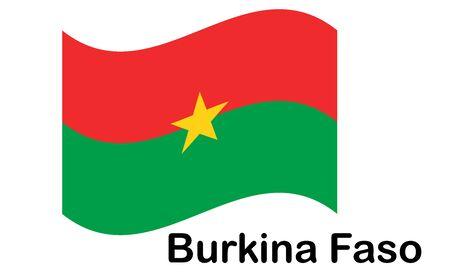 Burkina Faso flag, official colors and proportion correctly. National Burkina Faso flag. Illusztráció