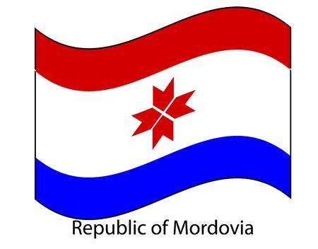 Mordovia flag. Mordovia flag Template for independence day. Stok Fotoğraf - 137630503