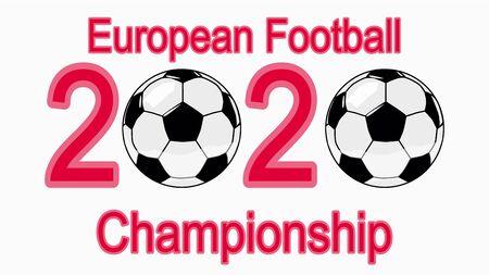 2020 European Football Championship, banner, web design ball in 2020