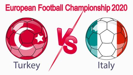 2020 European Football Championship, banner, web design, match between Turkey and Italy