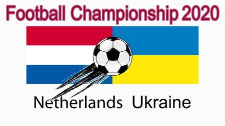 2020 European Football Championship, banner, web design, match between the Netherlands and Ukraine.