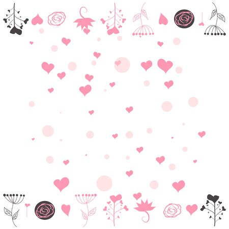 Hearts Falling Background. St. Valentine s Day. Romantic Scattered Hearts Texture. Love. Light Bokhe
