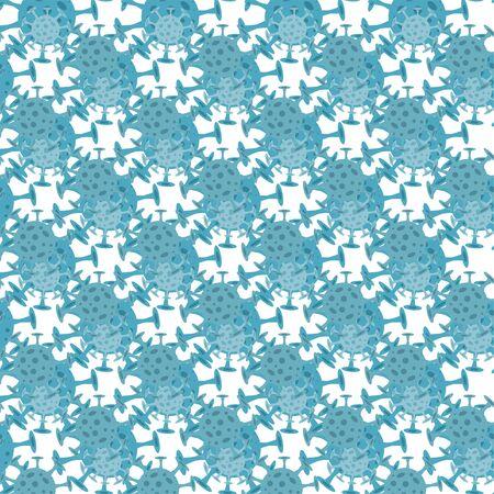 Seamless pattern with coronavirus virus in 2020.