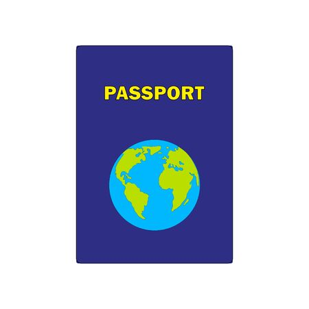 Passports with map isolated on white background.