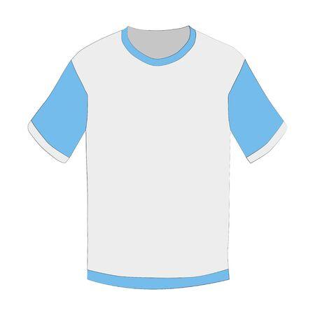 White men's, women's, unisex t-shirt on a white background.