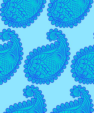 seamless pattern with Indian ornament. Turkish cucumber