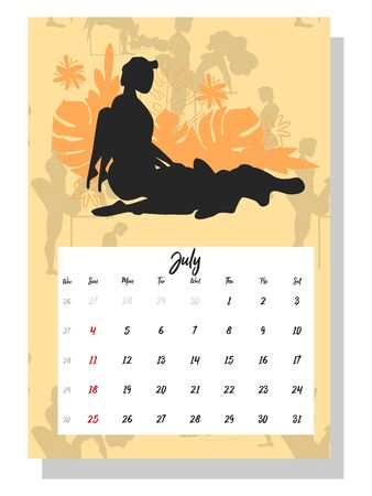 people make love. Concept calendar for 2021. Beautiful couples for every month of the year, silhouettes, relationships, family, Kama Sutra poses.