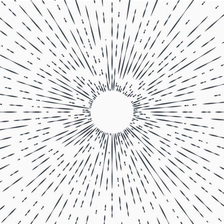 Sun burst, star burst sunshine. Radiating from the center of thin beams, lines