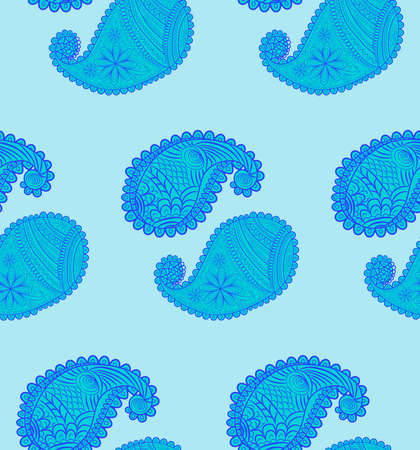 seamless pattern with Indian ornament. Turkish cucumber. Banco de Imagens - 155038939