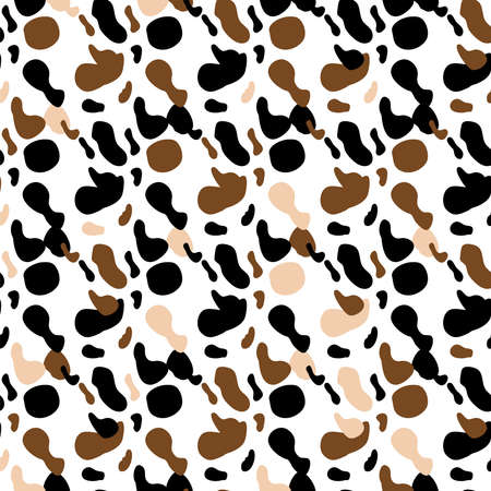cow spots seamless pattern. Endless texture wallpaper, printing on fabric, paper, scrapbooking.