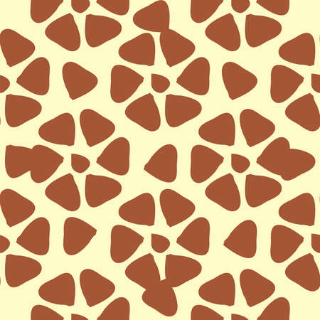 Giraffe fur seamless pattern, brown, orange tropical animal skin texture Ilustração