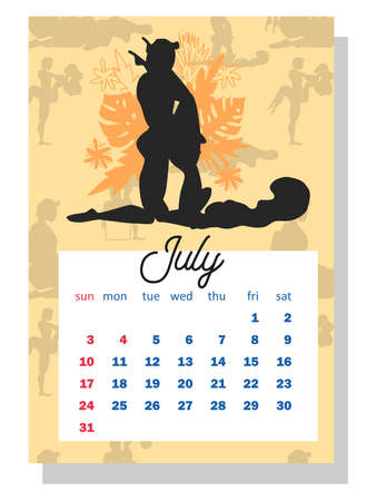 Concept calendar for 2022. Beautiful couples for every month of the year