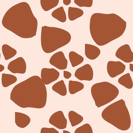 Giraffe fur seamless pattern, tropical animal skin texture.
