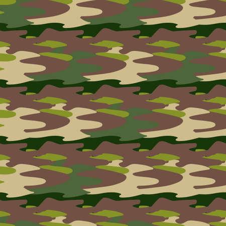 Abstract khaki pattern for cloth design. Seamless fashion wallpaper. Grunge fashion background. Modern abstract texture. Wooden texture, grunge brown background. Seamless pattern. Vector Illustratie