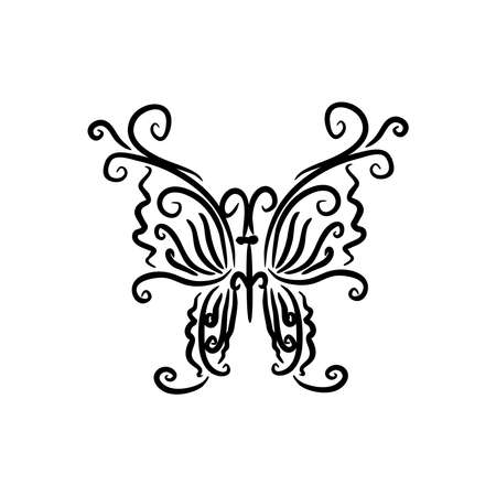Butterfly sign Branding Identity Corporate logo design template Isolated on a white background Иллюстрация