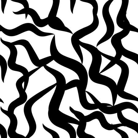 Zebra skin repeated seamless pattern. Black and white colors.