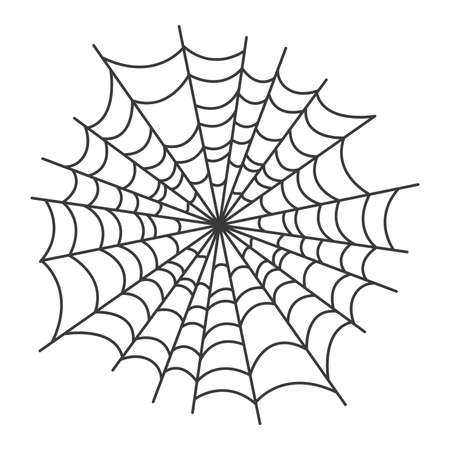 Esoteric symbol. Mystical and magical design with spider web