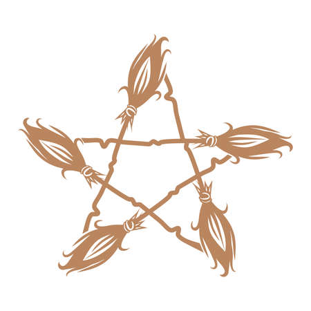 Esoteric symbol. Mystical and magical design with pentagram