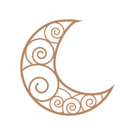 Esoteric symbol. Mystical and magical design with moon dreamcatcher