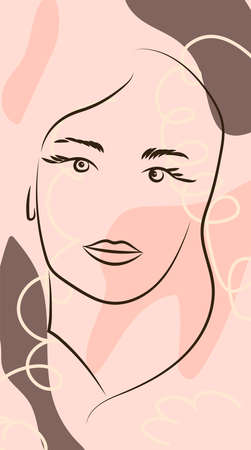 Fashion portrait of a model girl. Retro trendy colors poster or flyer