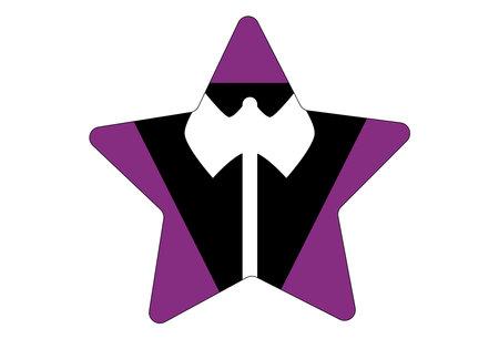 LGBT pride flag, LGBT Lesbian flag. Multicolored peace flag movement. Original colors symbol. Star shaped Vettoriali