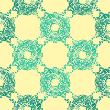 Abstract color splash, seamless pattern. Spray paint on a yellow background. Vettoriali