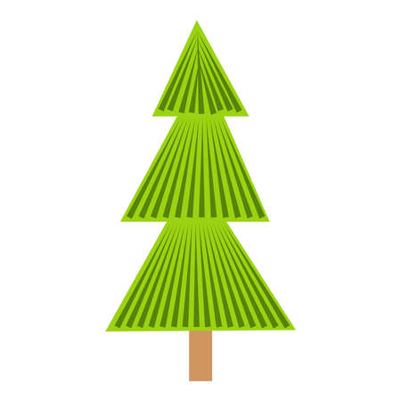 christmas tree. Hand drawing fir tree, Christmas ornaments. Holiday poster with Christmas symbols. Vettoriali
