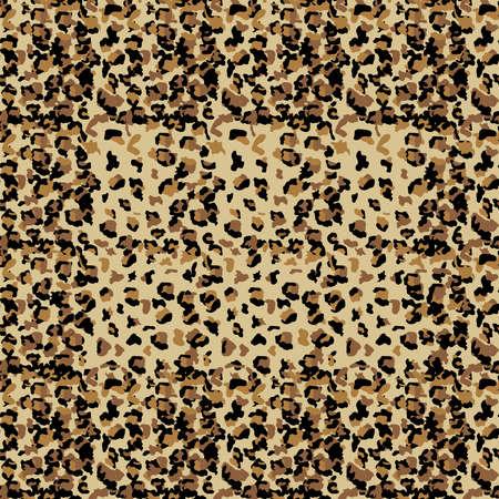Leopard seamless pattern design, texture illustration background Vettoriali