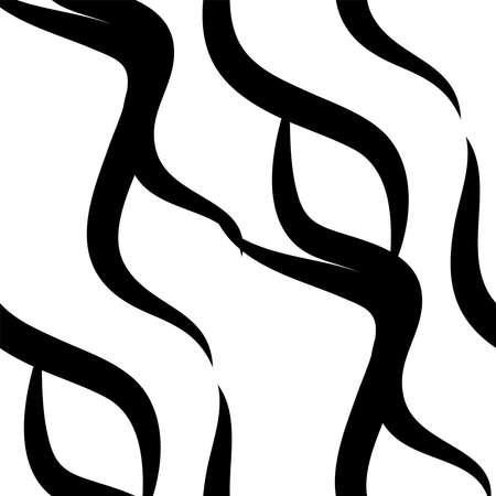 Zebra Stripes black and white pattern. Seamless