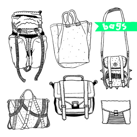deviant: Vector black and white set with original bags