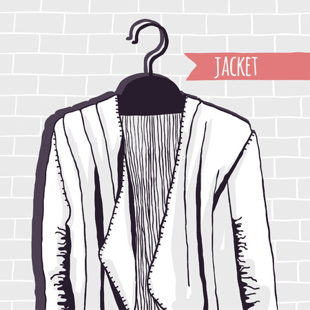 lappet: Vector illustration, jacket, brick wall