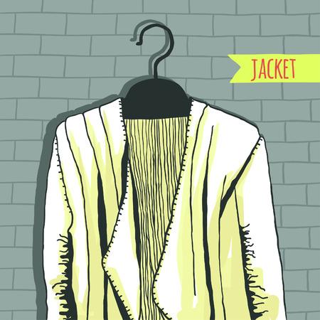 deviant: Vector illustration, jacket, brick wall