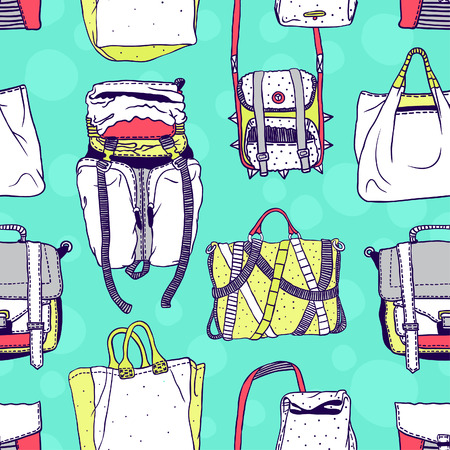 deviant: Seamless vector pattern with original bags